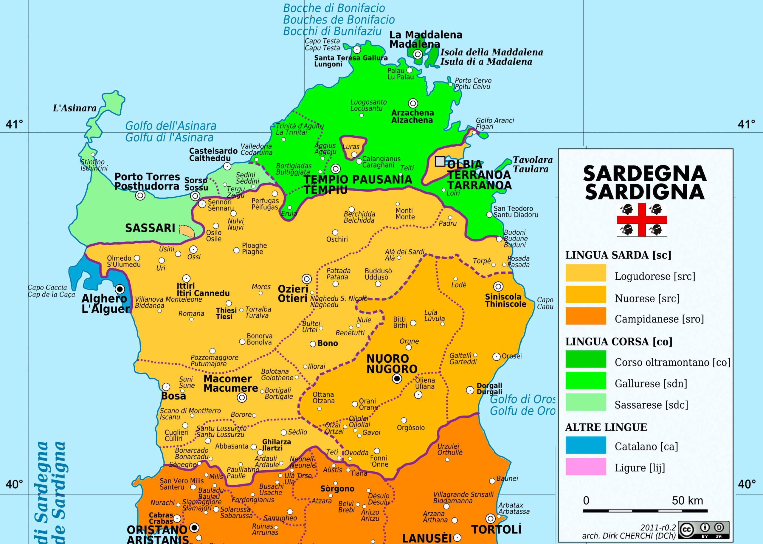 Cartina Sardegna Foto