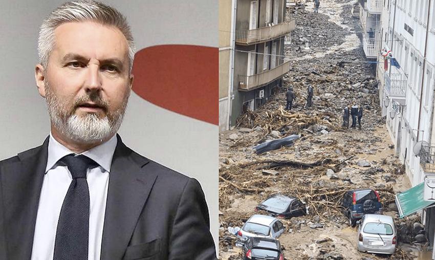 Ministro Guerini - Alluvione Bitti
