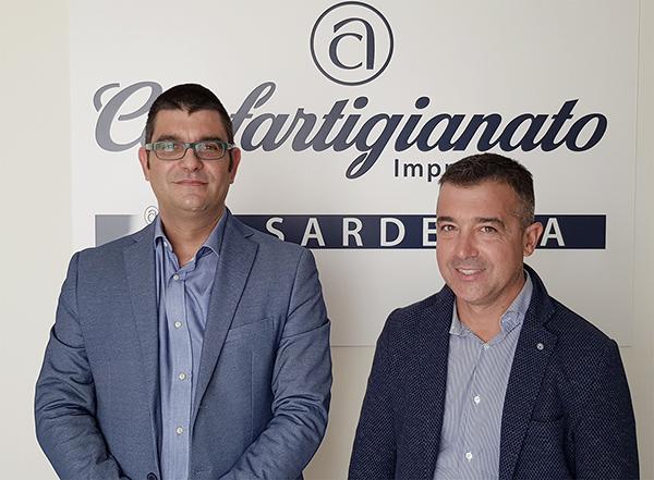 Antonio Matzutzi e Daniele Serra, Presidente e Segretario di Confartigianato Imprese Sardegna. 4mila imprese sarde pronte al passaggio di testimone