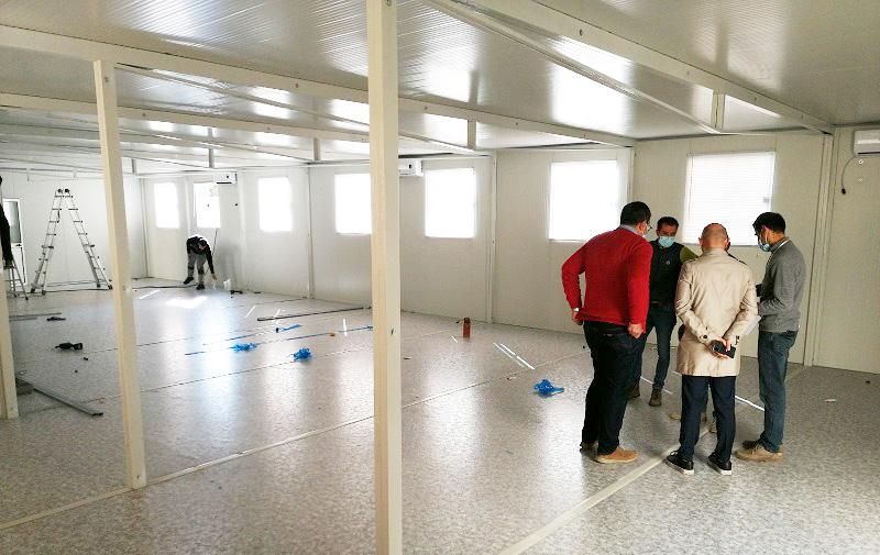 Sassari, installata una struttura amovibile Covid a supporto del Pronto soccorso