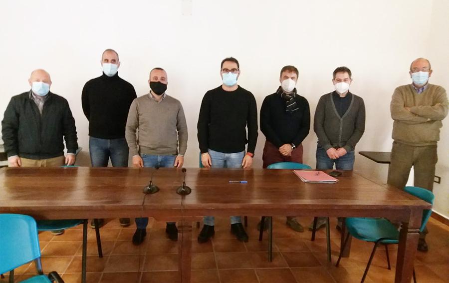 Francesco Ledda e nuova giunta CM Monte Acuto