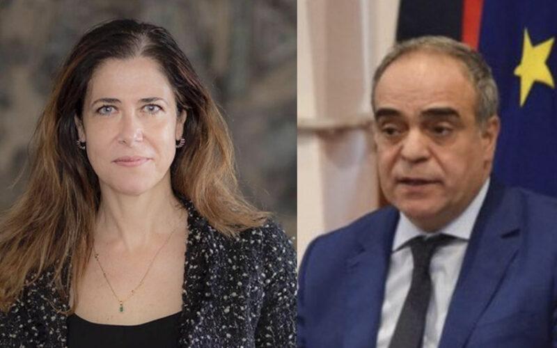 Alessandra Todde e Giulio Calvisi