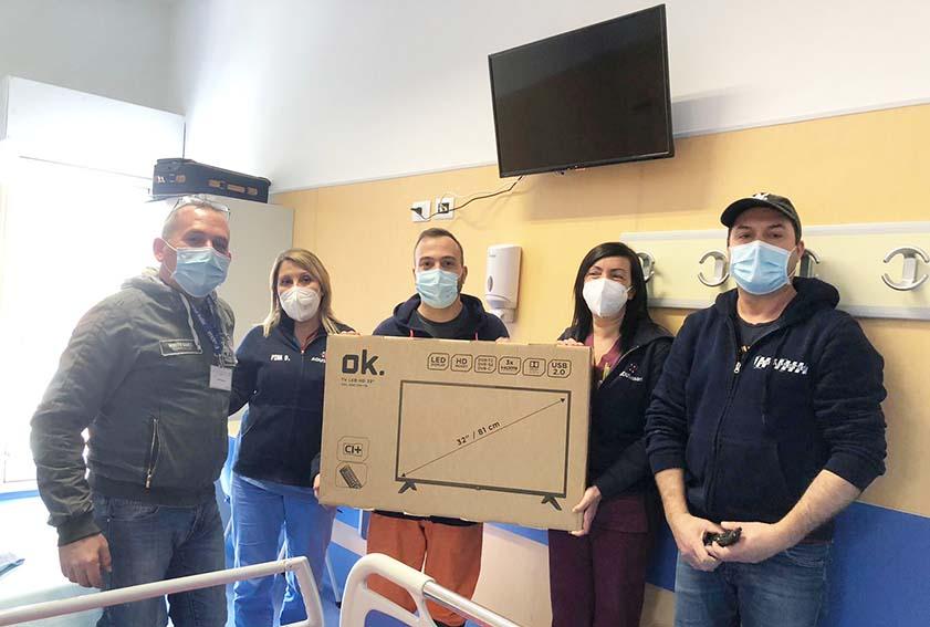Installazione dei televisori in Clinica chirurgica Sassari