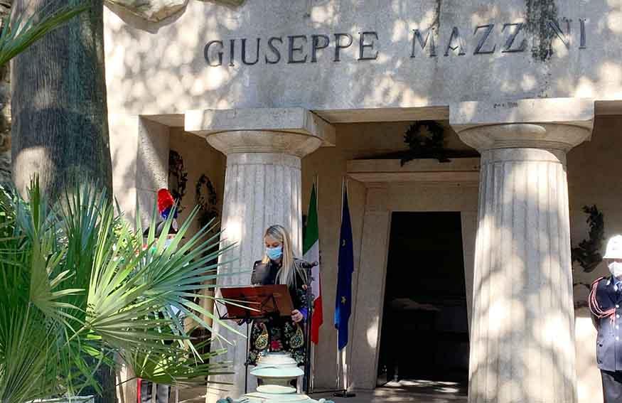 Il Sottosegretario alla Difesa Stefania Pucciarelli a Genova
