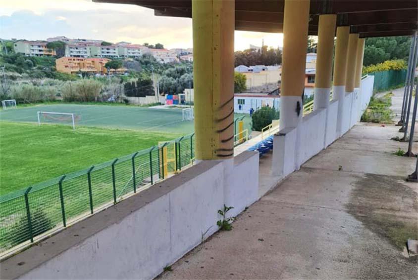 Lavori nell0 stadio comunale di Castelsardo
