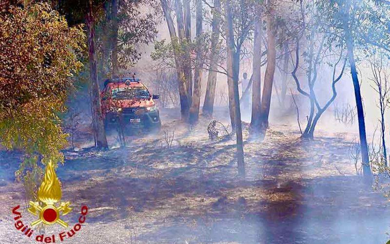 Incendio ex artiglieria Olbia