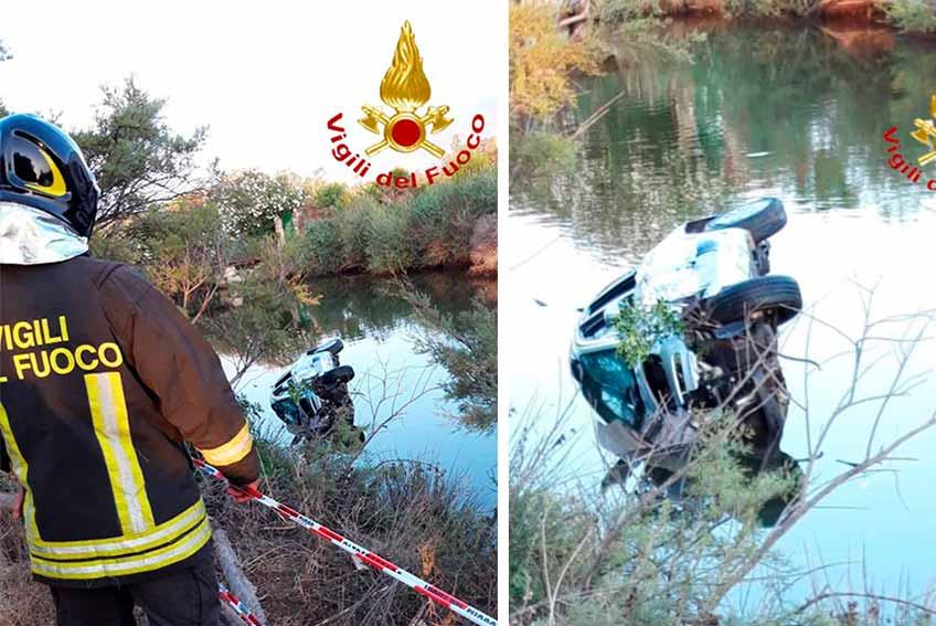 Incidente Orosei auto in un canale