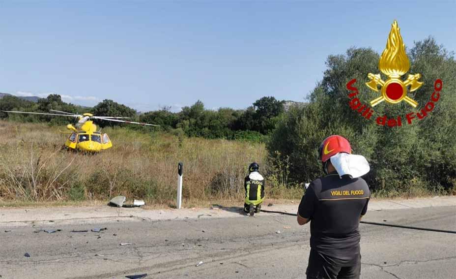 Incidente stradale bivio per San Pantaleo