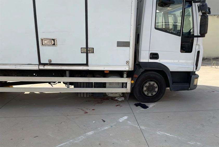 Camion che ha investito passante a Oristano