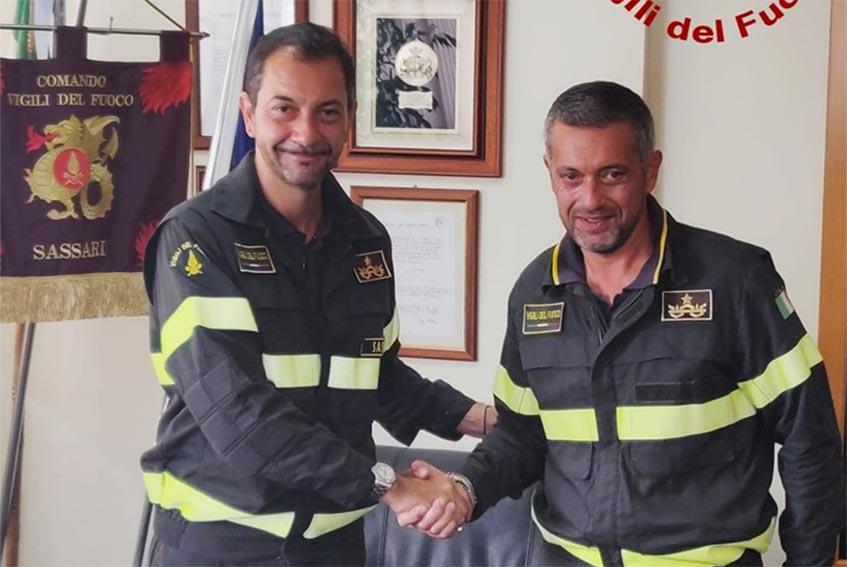 Nuovo comandante dei Vigili del Fuoco di Sassari